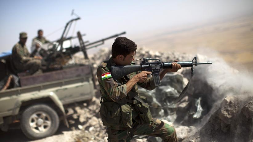 Irak Kurden Peschmerga Kämpfer IS