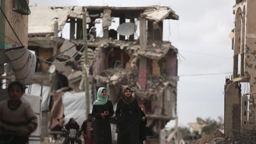 Gaza-Konflikt: Noch immer leben die Menschen im Gazastreifen inmitten der Kriegsruinen.