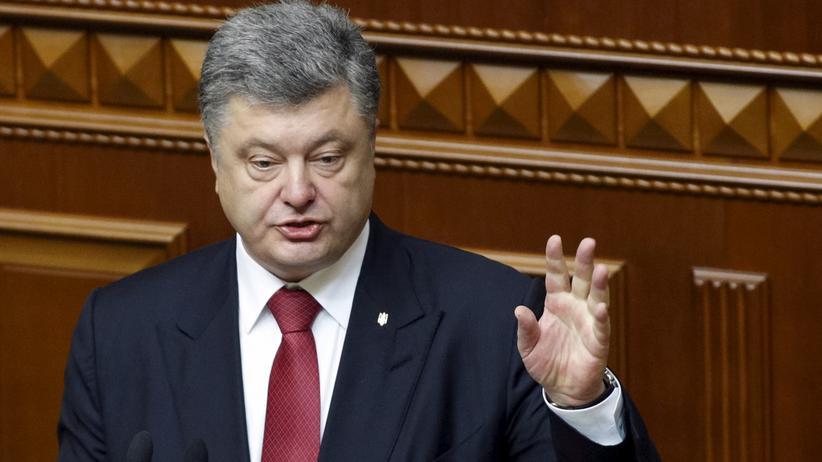 Ukraine: Der ukrainische Präsident Petro Poroschenko bei seiner jährlichen Rede zur Lage der Nation im Parlament in Kiew