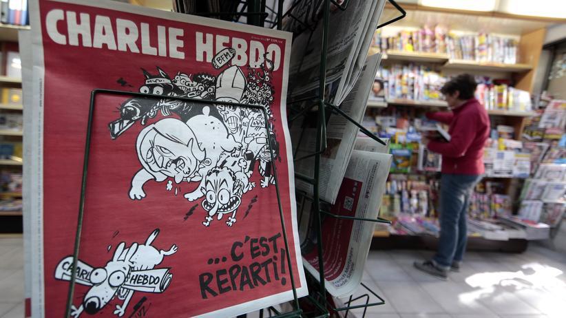 """Keiner will mehr Charlie sein: Unter Druck: Ausgabe der Satirezeitschrift """"Charlie Hebdo"""" nach dem Attentat im Januar"""