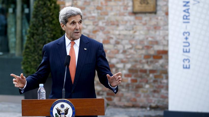 Atomverhandlungen: US-Außenminister John Kerry erläutert den Stand der Atomverhandlungen mit dem Iran in Wien.