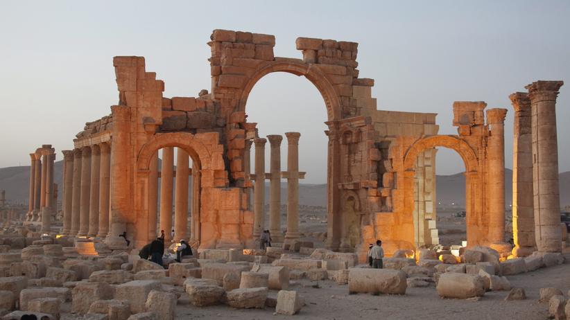 """Syrien: """"Islamischer Staat"""" zerstört weitere Tempelanlage in Palmyra"""