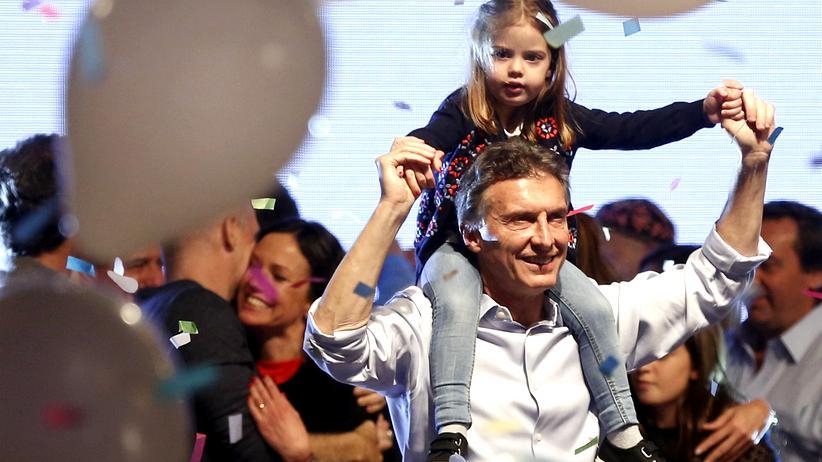 Wahl in Argentinien: Mauricio Macri am Wahlabend in Buenos Aires