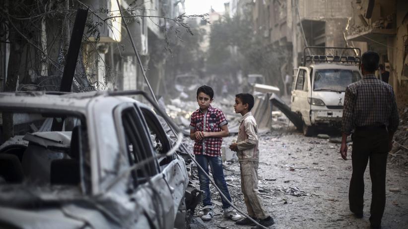 Amnesty International: Die Rebellen-Hochburg Douma ist eine der meist umkämpften Städte in Syrien.