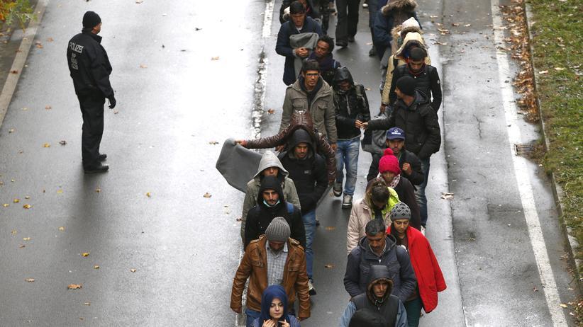 Asylpolitik: Flüchtlinge in der Nähe von Passau