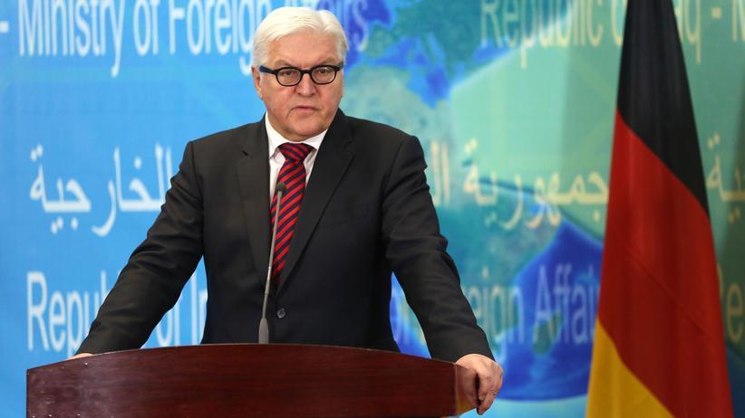 """""""Islamischer Staat"""": Bundesaußenminister Frank-Walter Steinmeier während seines Besuches im Irak."""