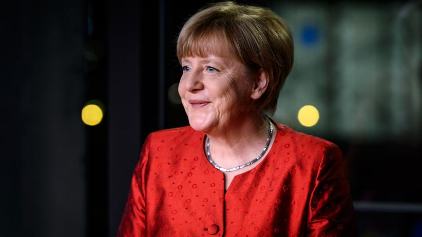 Bundeskanzlerin Angela Merkel bei ihrer Neujahrsansprache