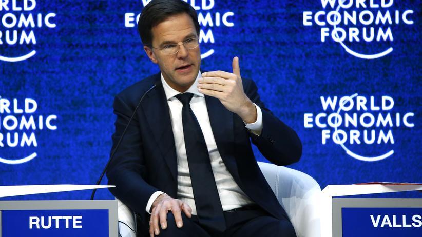 Flüchtlingskrise: Mark Rutte beim Weltwirtschaftsforum in Davos