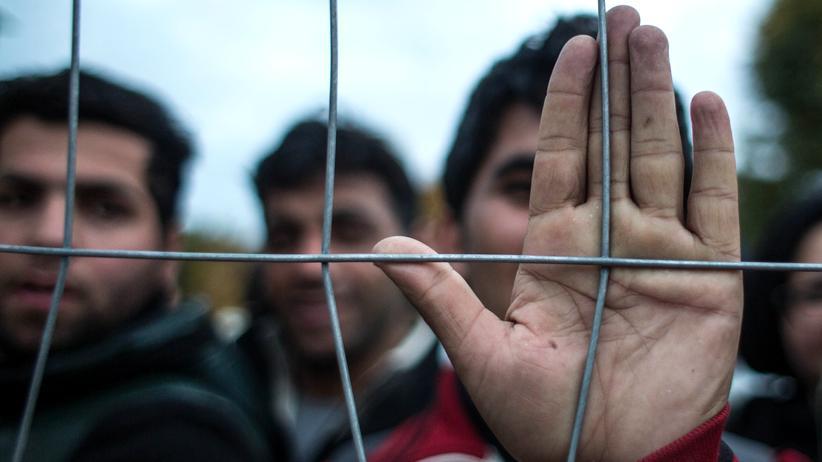 Flüchtlinge: Flüchtlinge an der slowenisch-österreichischen Grenze