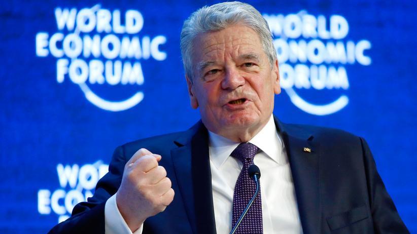 Joachim Gauck: Bundespräsident Joachim Gauck in Davos