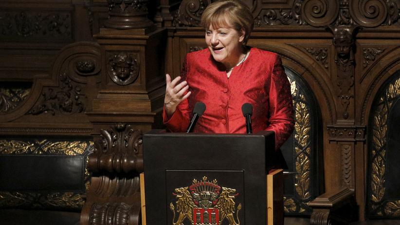 Brexit: Bundeskanzlerin Angela Merkel beim Matthiae-Mahl im Hamburger Rathaus