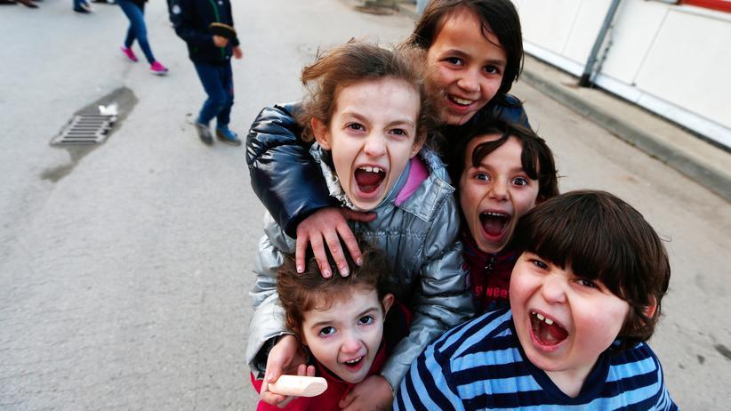 Flüchtlinge: Bewohner einer Flüchtlingsunterkunft in Berlin-Köpenick