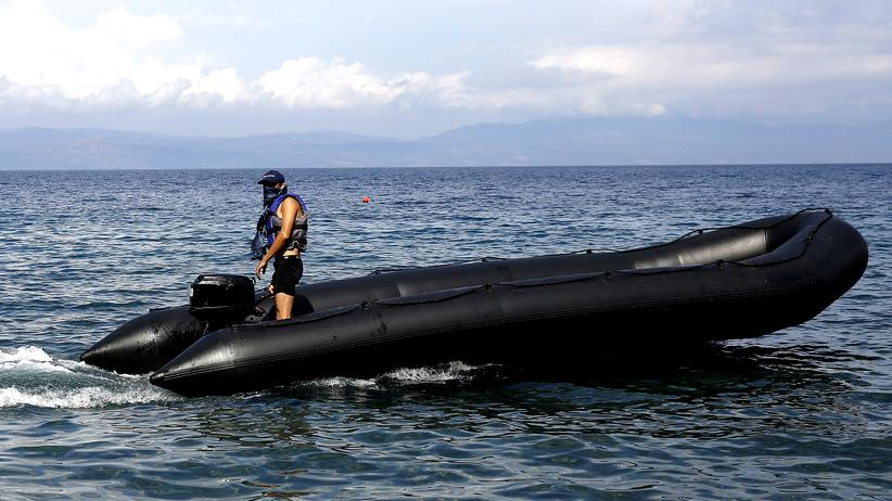 Flüchtlingskrise: Ein von der griechischen Küstenwache gestoppter mutmaßlicher Schleuser