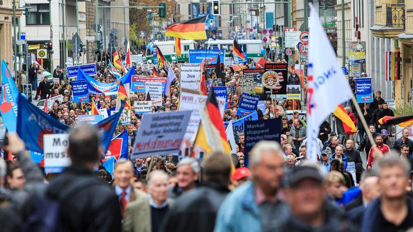 AfD: Eine Demonstration von Anhängern der AfD in Berlin