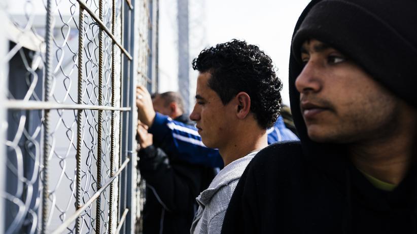 Flüchtlingskrise: Flüchtlinge an der griechisch-mazedonischen Grenze in Idomeni