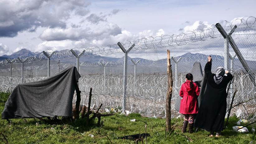 EU-Gipfel: Zaun an der griechisch-mazedonischen Grenze