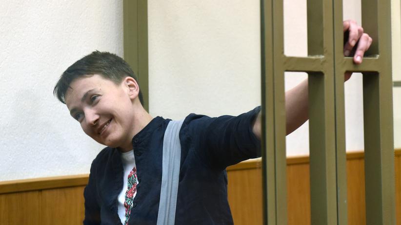 Nadija Sawtschenko: Nadija Sawtschenko während des Prozesses.