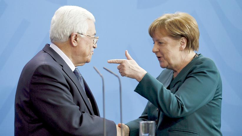 Angela Merkel Mahmud Abbas Israel Palästinensergebiete Berlin