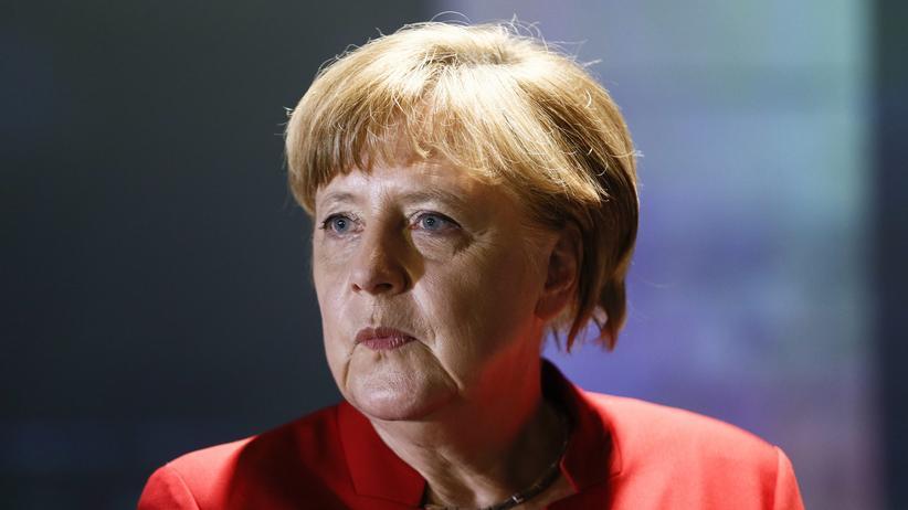Türkei: Bundeskanzlerin Angela Merkel (CDU) am 12. Mai in Berlin bei der Eröffnung einer Ausstellung im Europäischen Haus Berlin