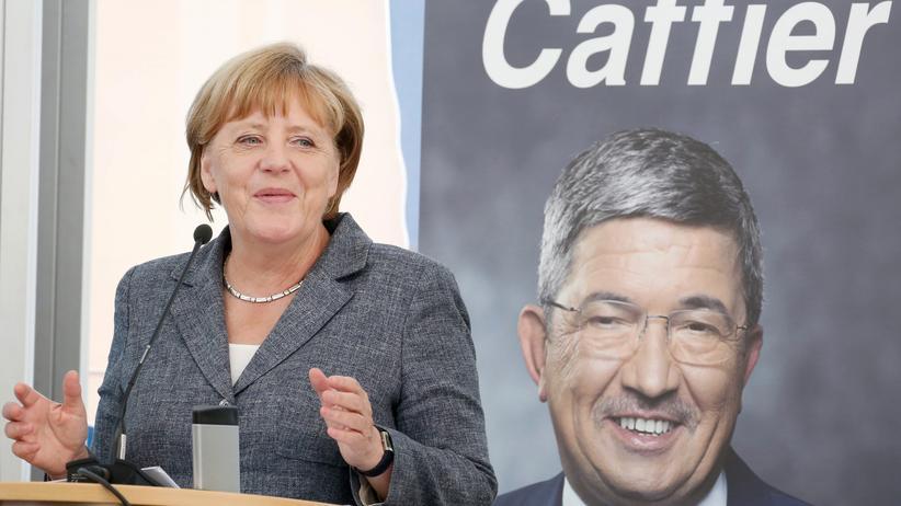 Islamistischer Terror: Bundeskanzlerin Angela Merkel im Wahlkampf in Mecklenburg-Vorpommern