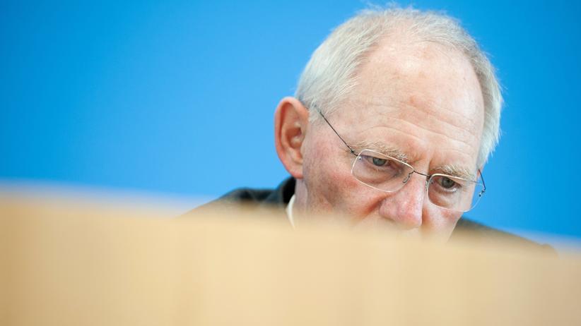 Financial Intelligence Unit: Bundesfinanzminister Wolfgang Schäuble