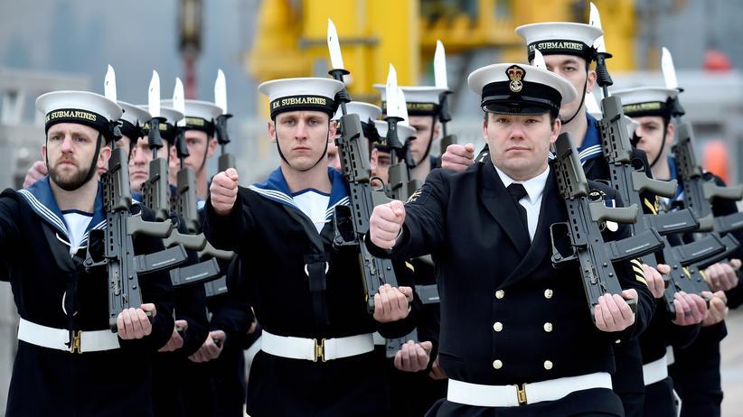 Europäische Sicherheitspolitik: Soldaten der Royal Navy in Schottland