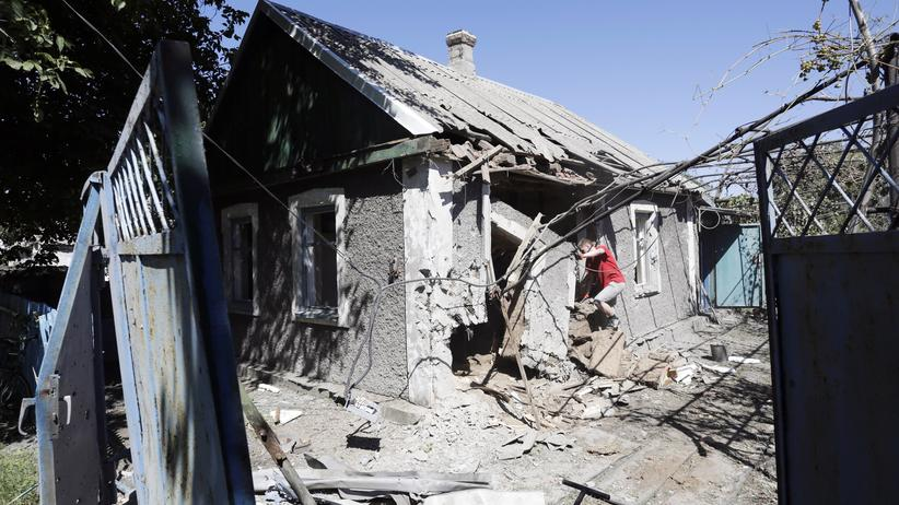 Osteuropa: In Awdijiwka, einer umkämpften Stadt in der Ostukraine (August 2015)