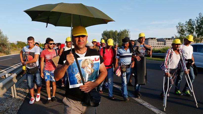Refugees: Refugees on their way from Budapest to Germany, Sept. 4, 2015