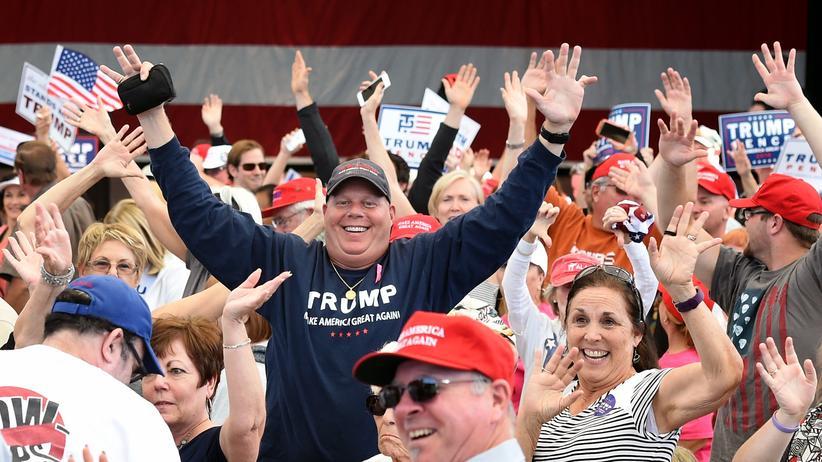 Trump-Wähler: Unterstützer des republikanischen Präsidentschaftskandidaten Donald Trump in Henderson, Nevada.