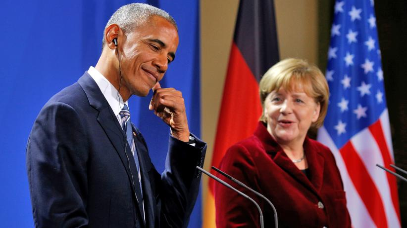 Obama in Berlin: Bleiben in Kontakt: Barack Obama und Angela Merkel