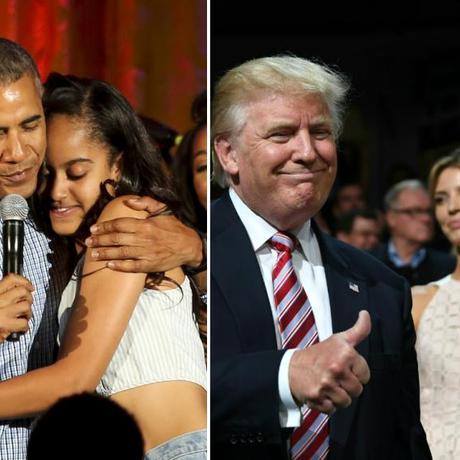 USA: So unterschiedlich sprechen Obama und Trump über ihre Töchter
