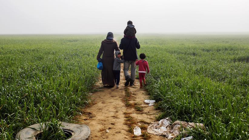Syrische Familie in Griechenland