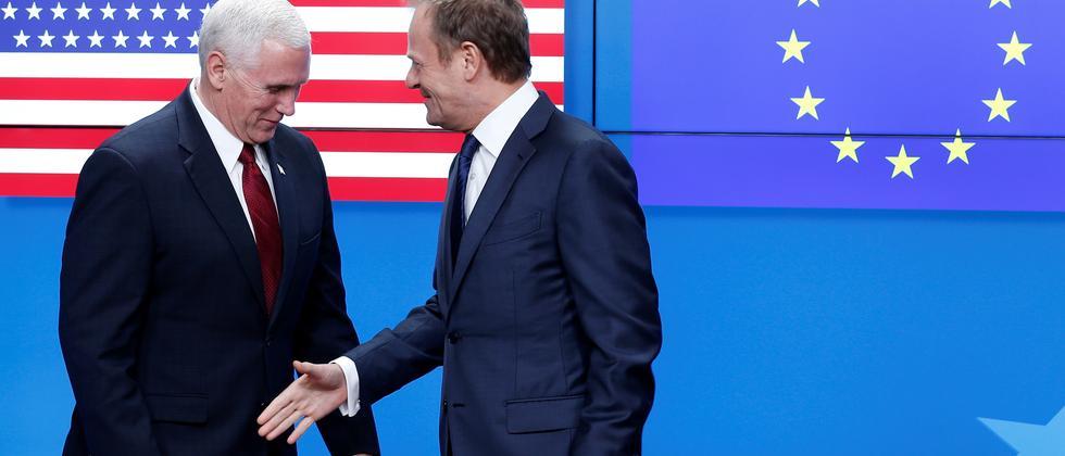 Mike Pence in Brüssel: US-Vizepräsident betont Partnerschaft mit EU