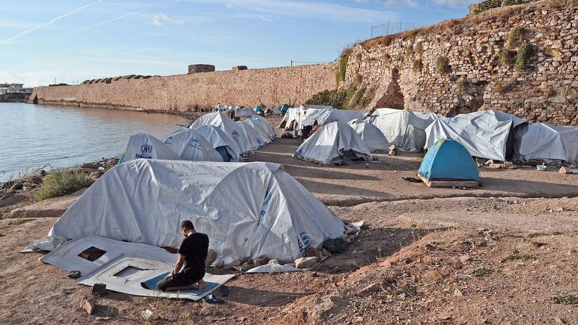 Flüchtlingslager auf Chios: Ein Flüchtlingscamp auf Chios