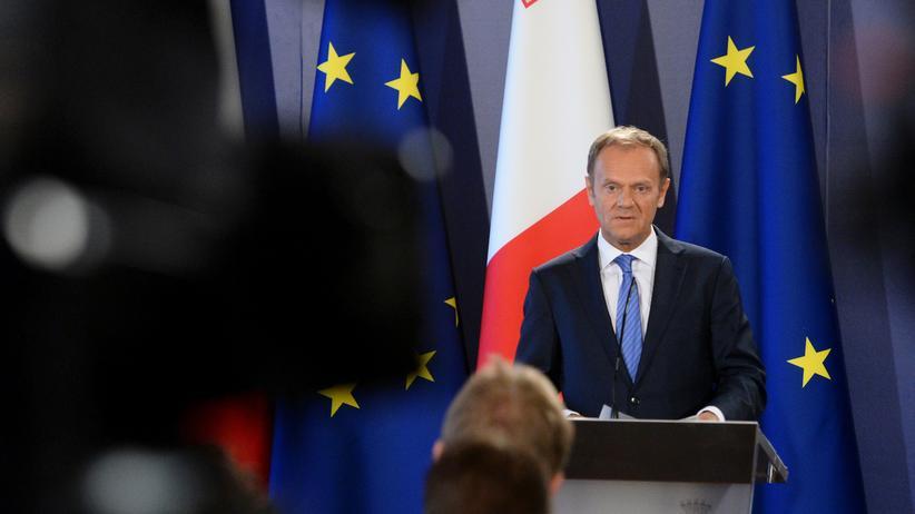 Brexit: Donald Tusk während seiner Pressekonferenz in Malta