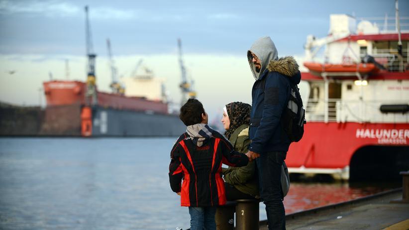 Asylbewerber: Ein syrischer Flüchtling und seine Frau in Hamburg
