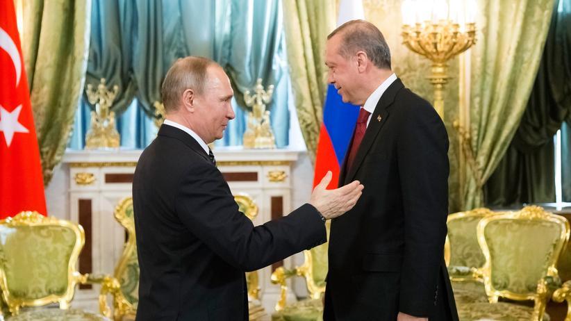 Internationale Konflikte: Russlands Präsident Wladimir Putin und sein türkischer Kollege Recep Tayyip Erdogan bei ihrem jüngsten Treffen in Moskau