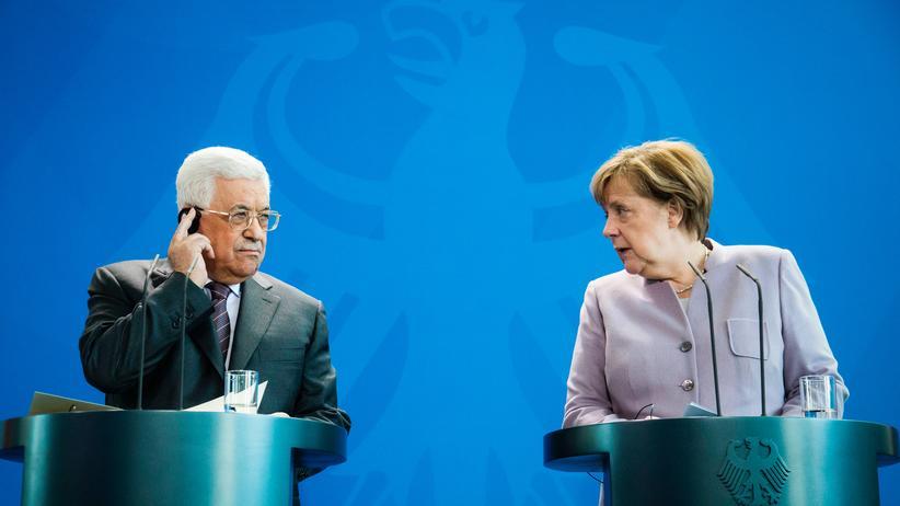 Nahostkonflikt: Merkel und Abbas werben für Zweistaatenlösung