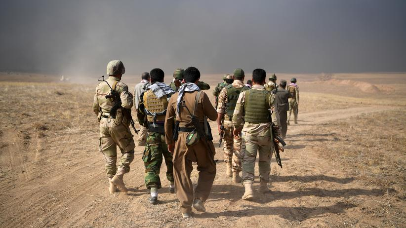 Syrien und Irak: Kurdische Kämpfer nahe Mossul