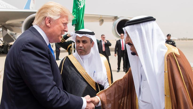 Donald Trump: Der US-Präsident Donald Trump bei seinem Besuch in der saudischen Hauptstadt Riad