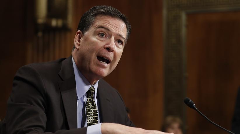 USA: FBI-Chef James Comey bei seiner Aussage im Geheimdienstausschuss des Kongresses