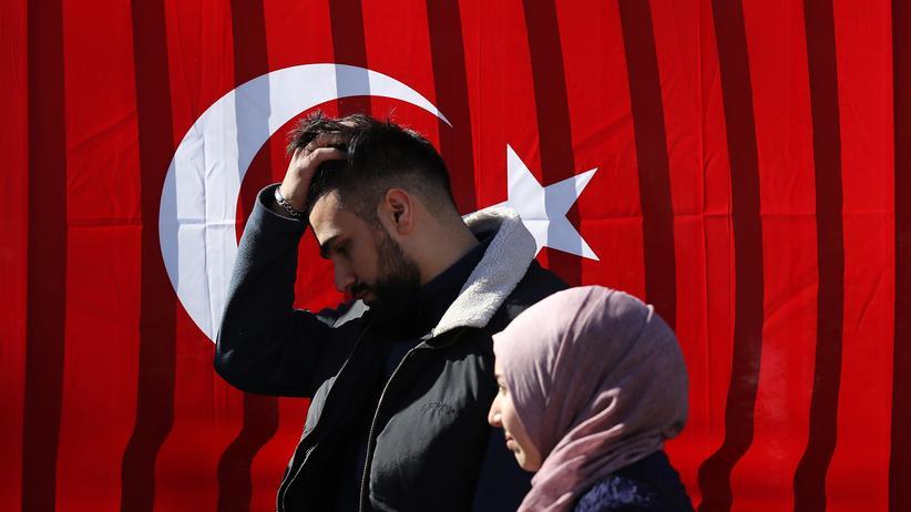 Referendum in Deutschland: In Deutschland lebende Türken während des Verfassungsreferendums am 27. März 2017 in Berlin