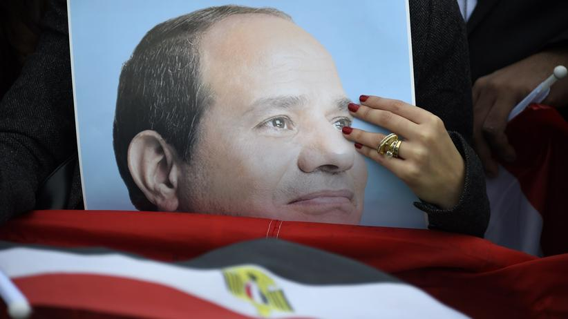 Abdel Fattah al-Sissi: Ein Plakat zeigt den ägyptischen Präsidenten Abdel-Fattah al-Sissi