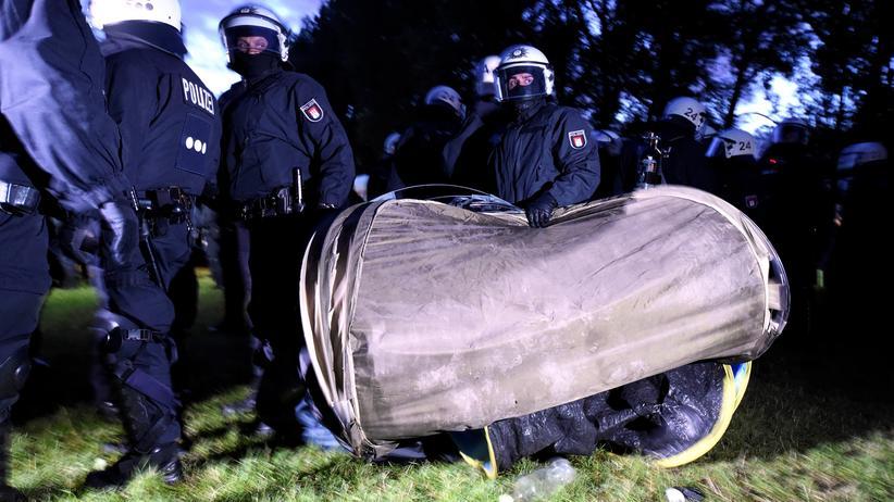 G20-Gipfel: Verletzte bei Räumung eines Protestcamps
