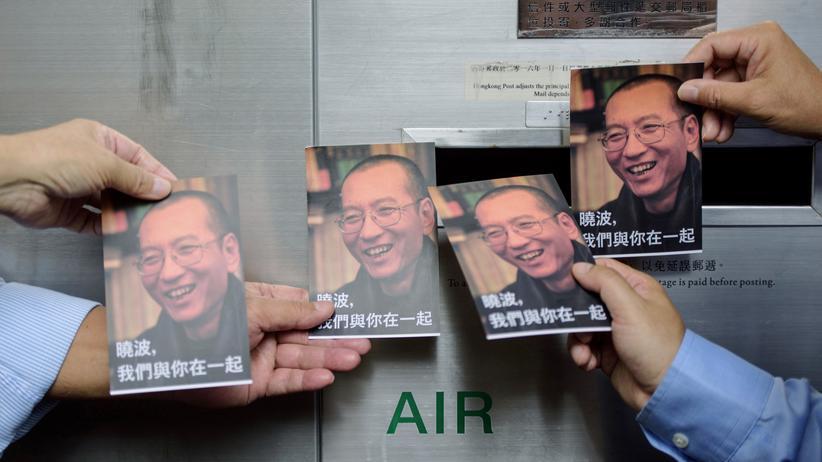 Liu Xiaobo: Unterstützer des todkranken Bürgerrechtlers Liu Xiaobo in Hongkong