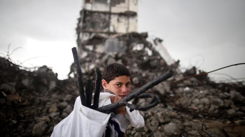Nahost-Konflikt: Ein palästinensischer Junge im Gazastreifen