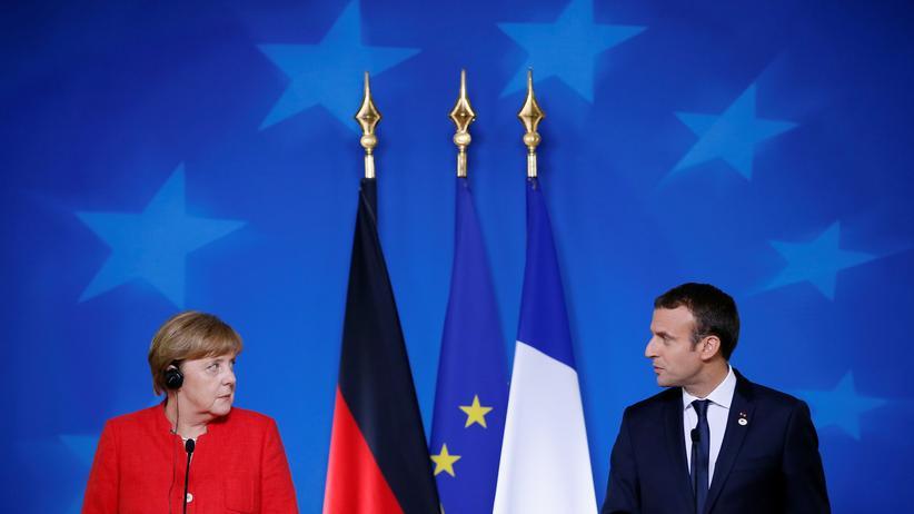 Europa: Bundeskanzlerin Angela Merkel und Frankreichs Präsident Emmanuel Macron