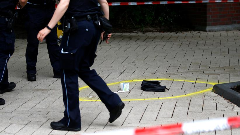 Messerangriff in Hamburg: Der Tatort der Messerattacke in Barmbek