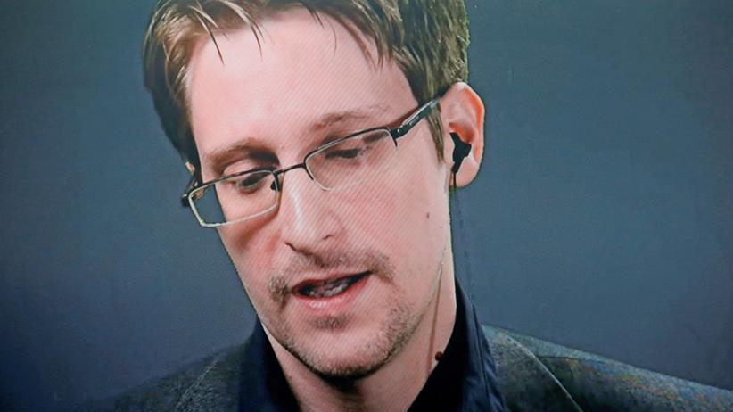 USA: Der Whistleblower Edward Snowden während einer Video-Konferenz.