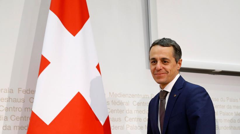 Ignazio Cassis: Der neugewählte FDP-Bundesrat und designierte Außenminister der Schweiz, Ignazio Cassis